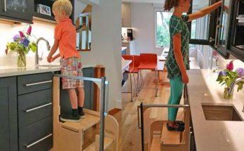 پله های تاشو مخصوص آشپزخانه
