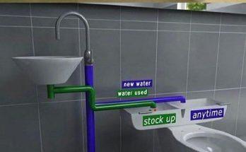 استفاده از آب روشویی برای سیفون
