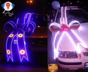 تزیین ماشین عروس با LED