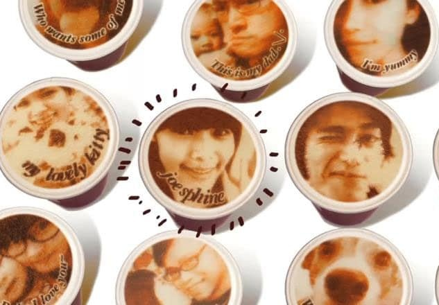 تصویر چهره روی قهوه