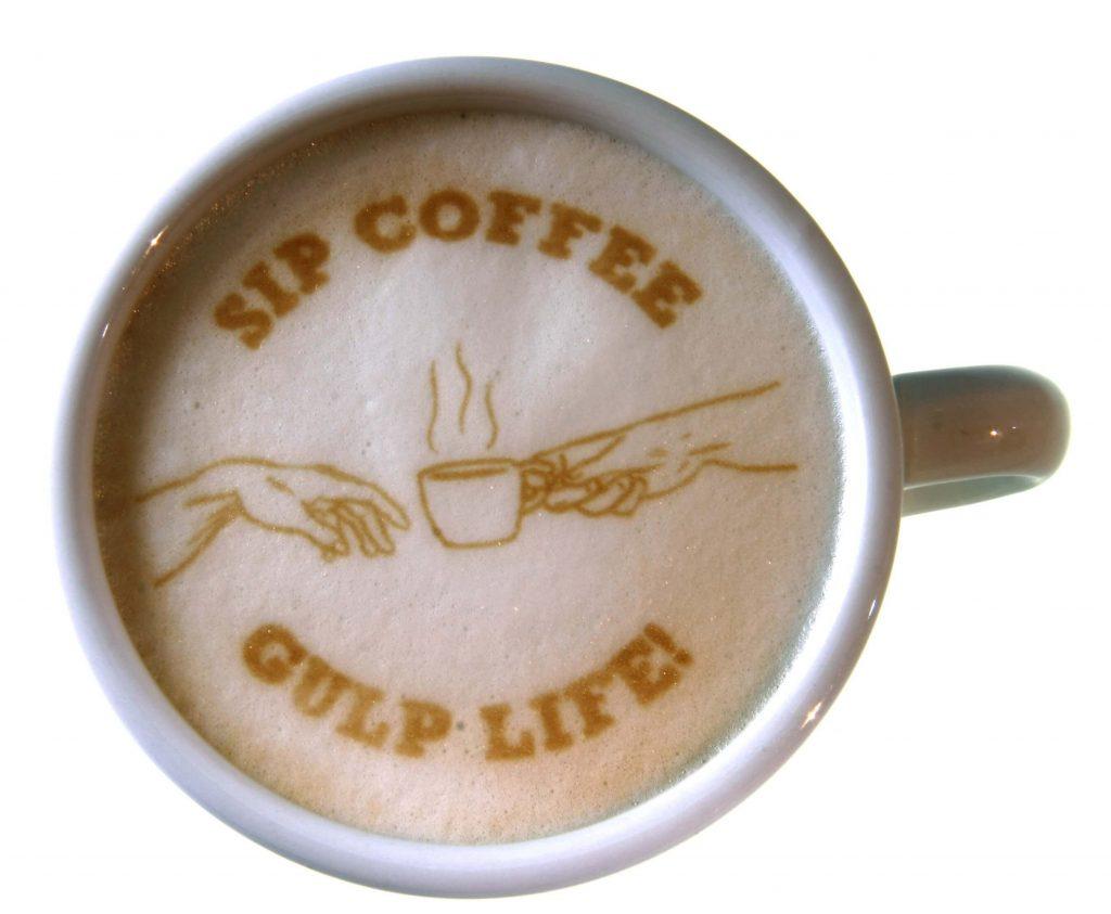 تصویر روی قهوه